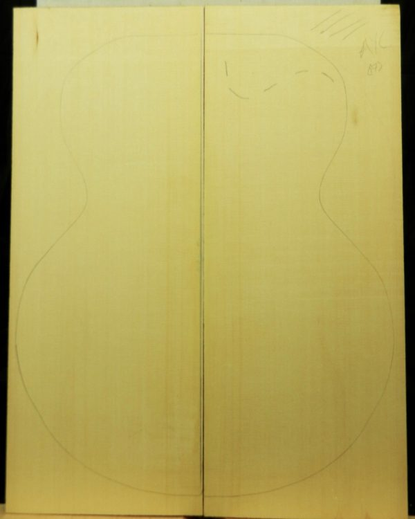 4A grade Yellow cedar Archtop Guitar wedge set