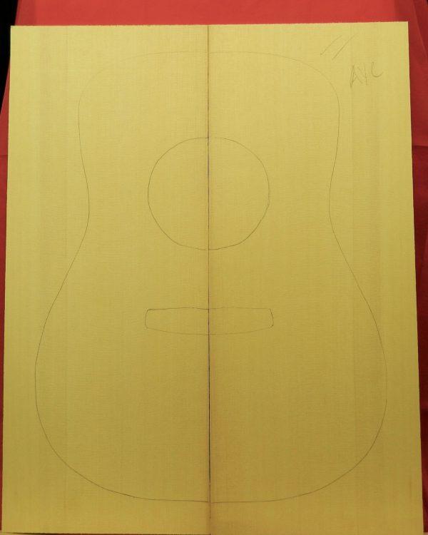 AA Yellow Cedar Dreadnought Guitar back set