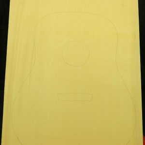 1 Piece Yellow Cedar Dread Guitar