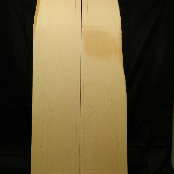 Fine grade dyer harp guitar Non-figured Sitka