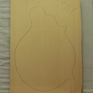 #1 1 Piece mandolin front Non-figured Sitka