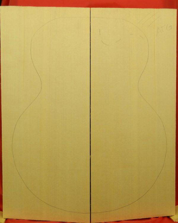 AAA Non-figured Archtop plank cut