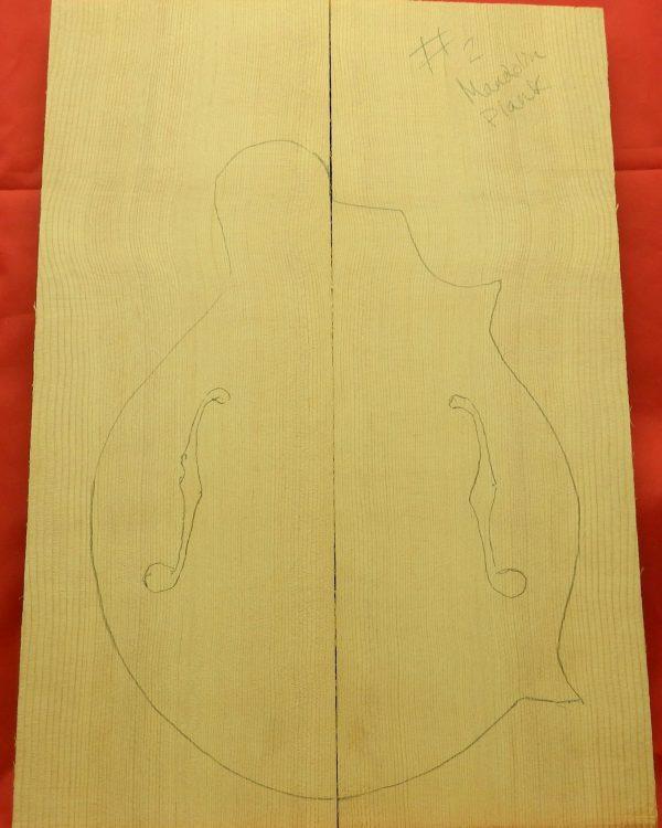 plank-cut mandolin