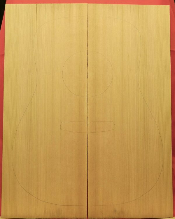 2A Western Red Cedar Jumbo Guitar top set