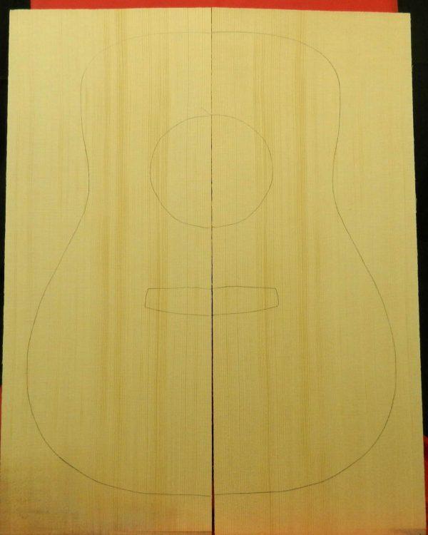 A Grade Non-figured Dreadnought Guitar.