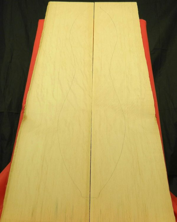 from Salvage Sourced Old-growth Sitka Spruce tonewood.