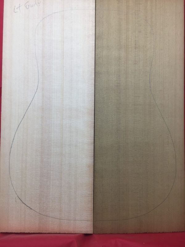 Torrified/non-torrified 2 top set sitka spruce guitar tops.